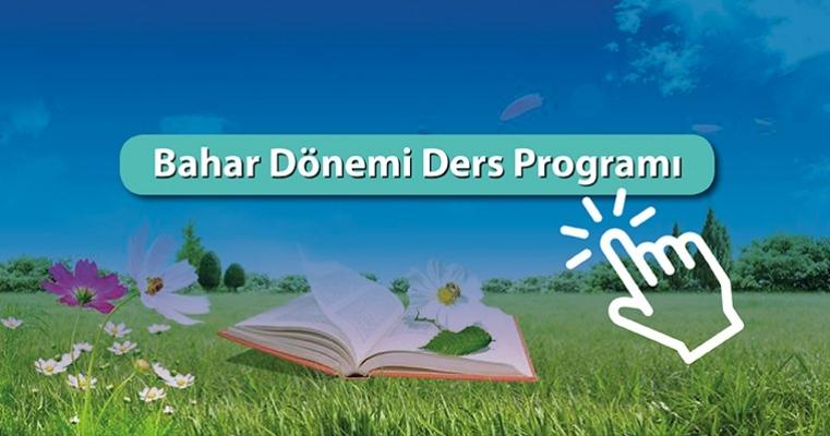 (06.02.2019)Bahar Yarıyılı Ders Programı